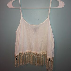 Forever 21 fringed cropped tank